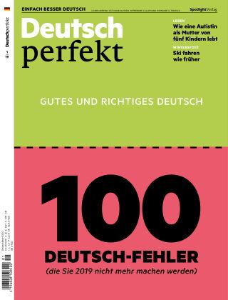 Deutsch perfekt - Einfach besser Deutsch 01/2019