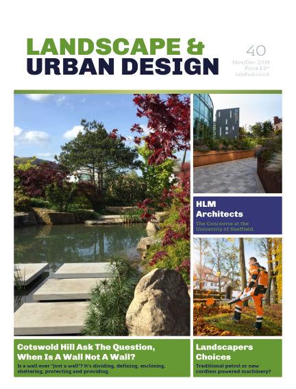 Landscape & Urban Design November 04, 2019 00:00