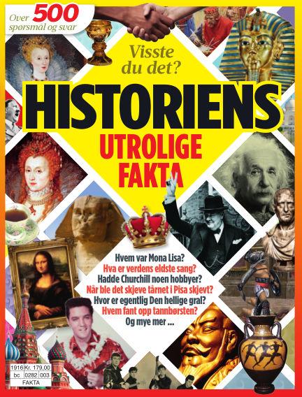 Historiens utrolige fakta April 30, 2019 00:00