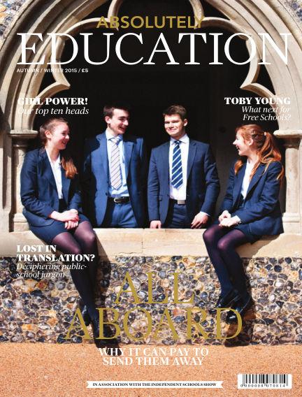 Absolutely Education September 01, 2015 00:00