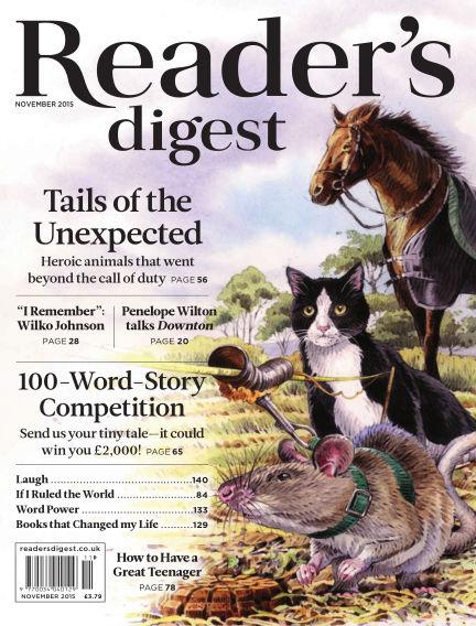 Reader's Digest UK November 01, 2015 00:00