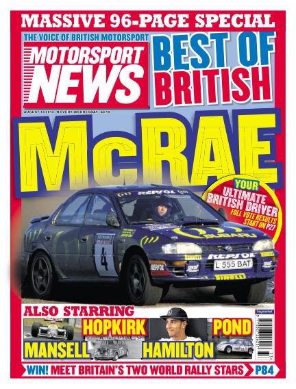 Motorsport News August 13, 2014 00:00