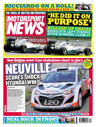 Motorsport News 27th August 2014