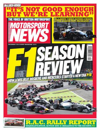Motorsport News 3rd December 2014