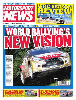 Motorsport News 10th December 2014