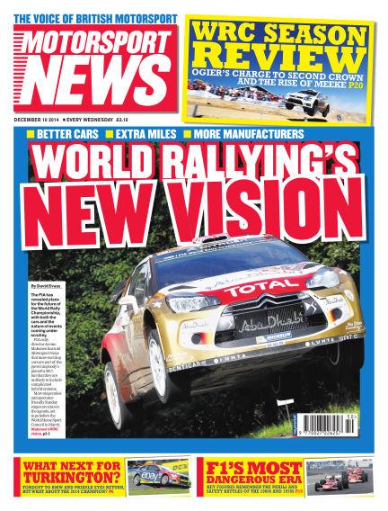 Motorsport News December 10, 2014 00:00