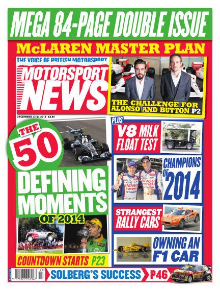 Motorsport News December 17, 2014 00:00