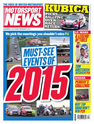 Motorsport News 31st December 2014