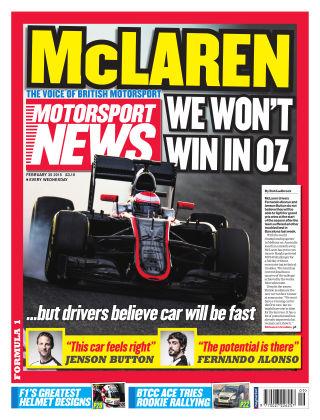 Motorsport News 25th February 2015