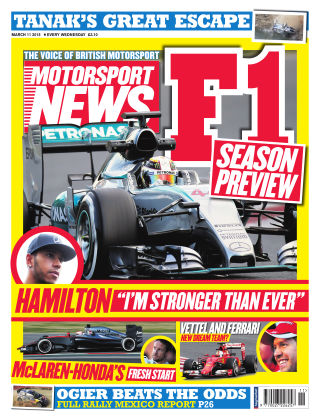 Motorsport News 11th March 2015