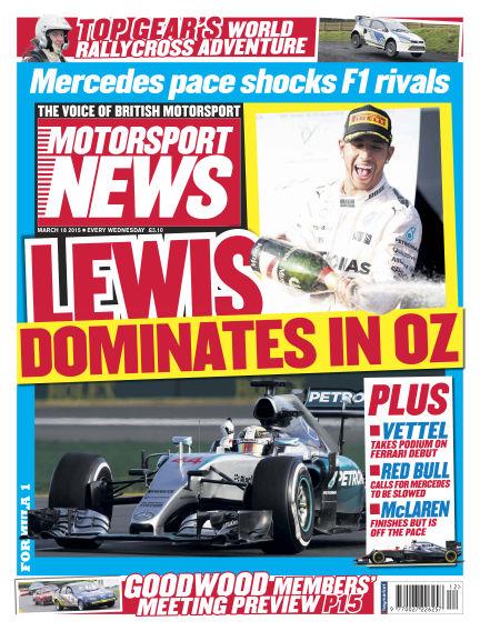 Motorsport News March 18, 2015 00:00