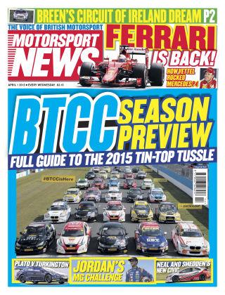 Motorsport News 1st April 2015
