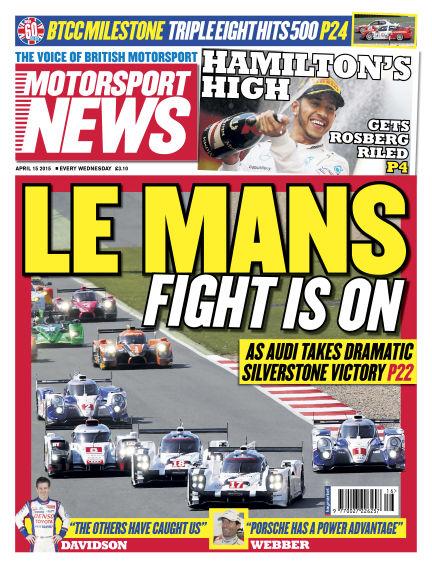 Motorsport News April 15, 2015 00:00