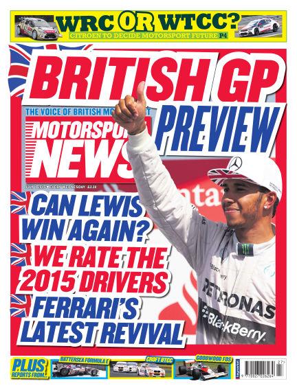 Motorsport News July 01, 2015 00:00