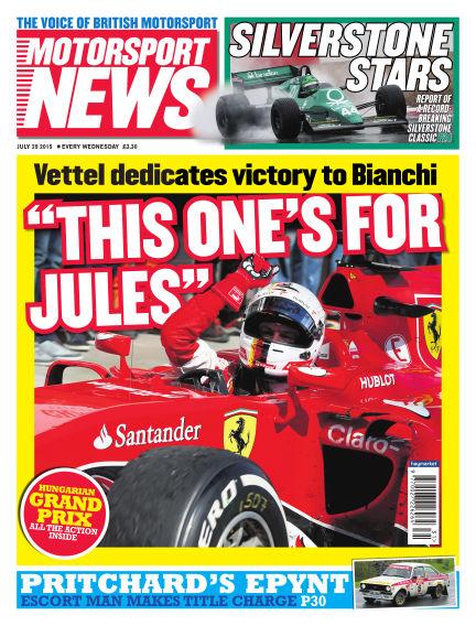 Motorsport News July 29, 2015 00:00