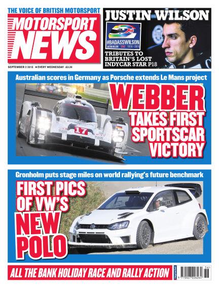 Motorsport News September 02, 2015 00:00