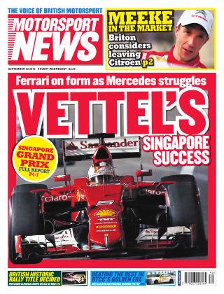 Motorsport News 23rd September 2015