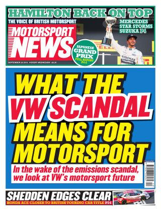 Motorsport News 30th September 2015