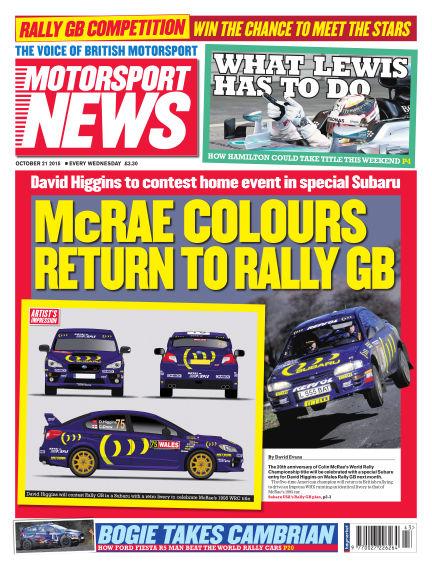 Motorsport News October 21, 2015 00:00