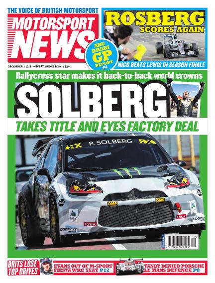 Motorsport News December 02, 2015 00:00