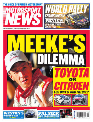 Motorsport News 9th December 2015