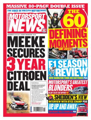 Motorsport News 16th December 2015