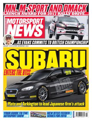 Motorsport News 13th January 2016