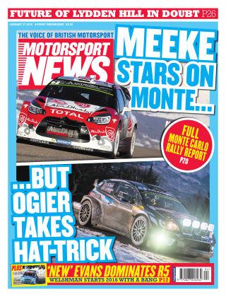 Motorsport News 27th January 2016