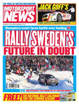 Motorsport News 10th February 2016