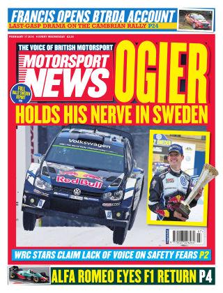 Motorsport News 17th February 2016
