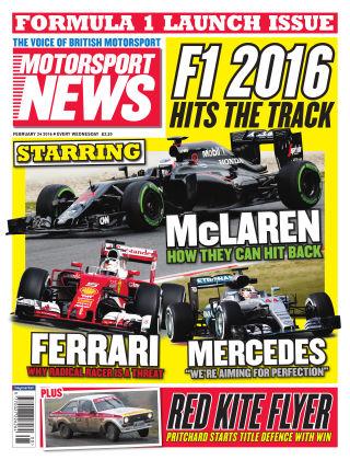 Motorsport News 24th February 2016