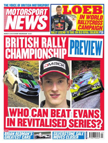 Motorsport News March 02, 2016 00:00