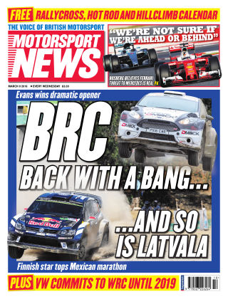 Motorsport News 9th March 2016
