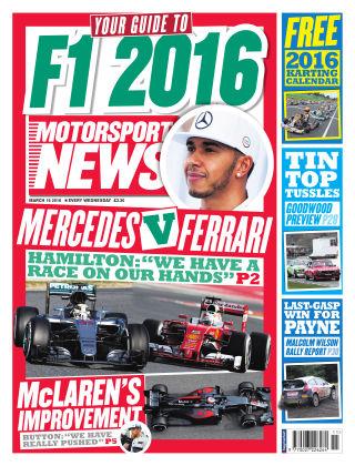 Motorsport News 16th March 2016