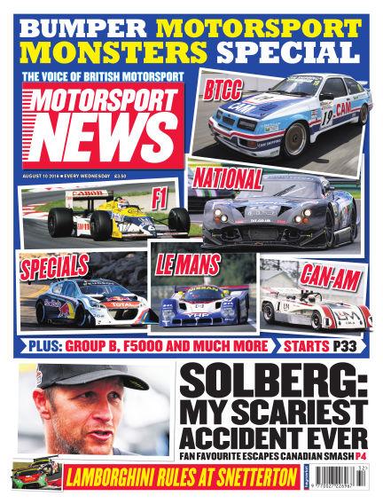 Motorsport News August 10, 2016 00:00