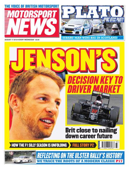 Motorsport News August 17, 2016 00:00