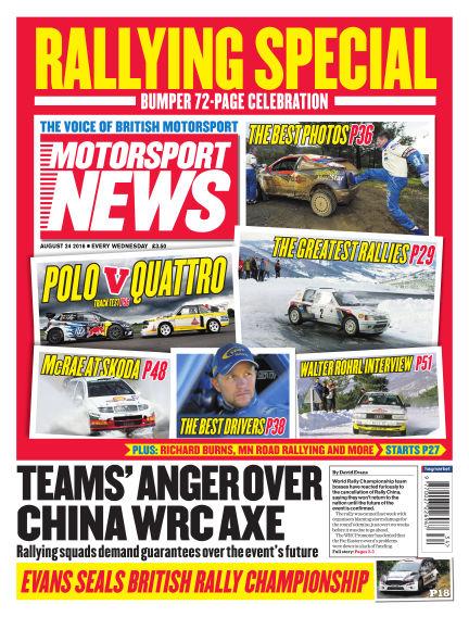 Motorsport News August 24, 2016 00:00