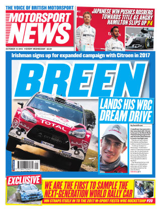 Motorsport News 12th October 2016