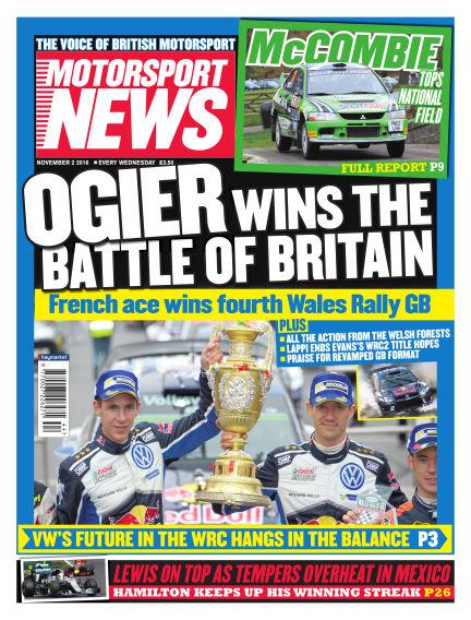 Motorsport News November 02, 2016 00:00