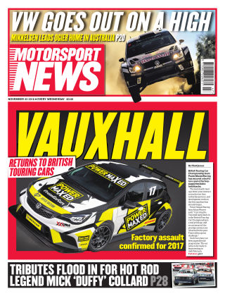 Motorsport News 23rd November 2016