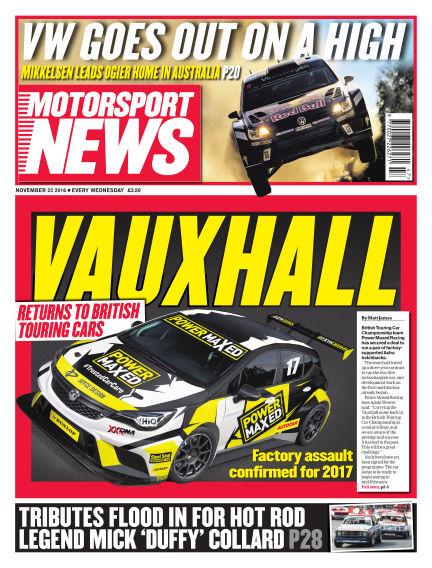 Motorsport News November 23, 2016 00:00