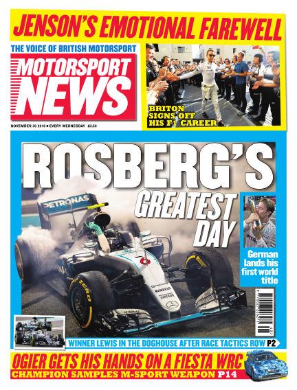 Motorsport News November 30, 2016 00:00