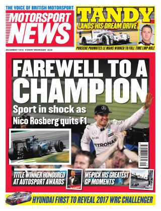 Motorsport News 7th December 2016