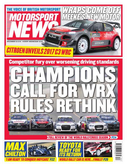 Motorsport News December 28, 2016 00:00