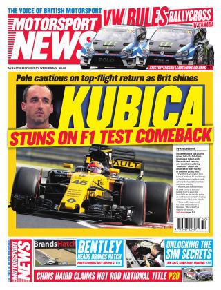 Motorsport News 9th August 2017