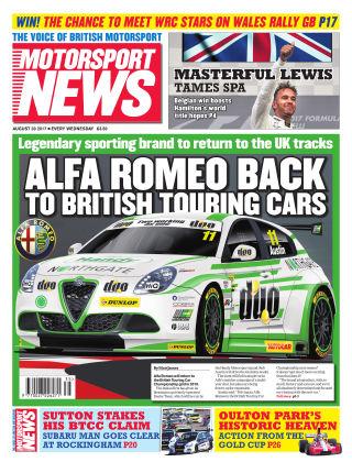 Motorsport News 30th August 2017