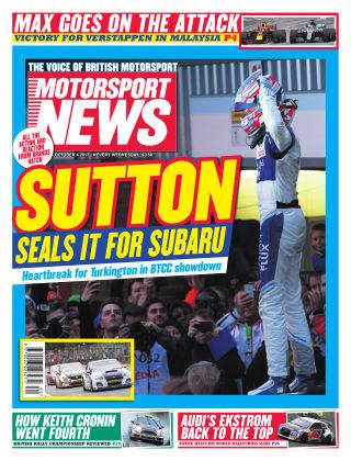 Motorsport News 4th October 2017