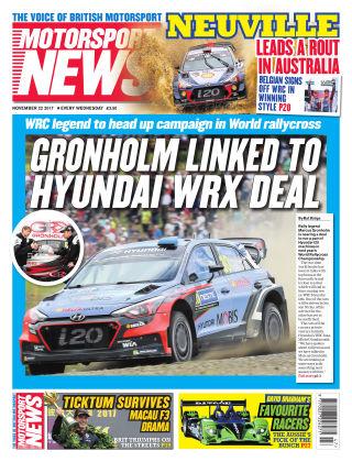 Motorsport News 22nd November 2017