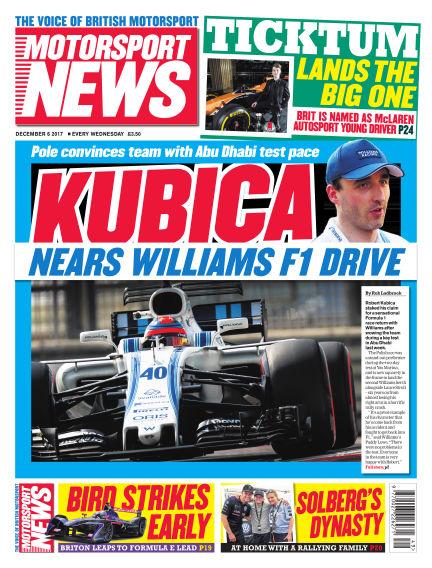 Motorsport News December 06, 2017 00:00