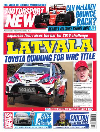 Motorsport News 3rd January 2018